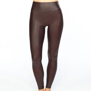 SPANX Seamless Leather Leggings